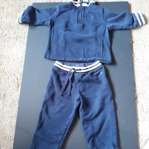 Ralph Lauren kids 18m Navy sweat pant hoodie set